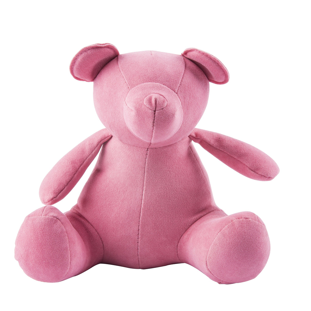 Pink Teddy Bear Weighted Bookend or Desk Accessory