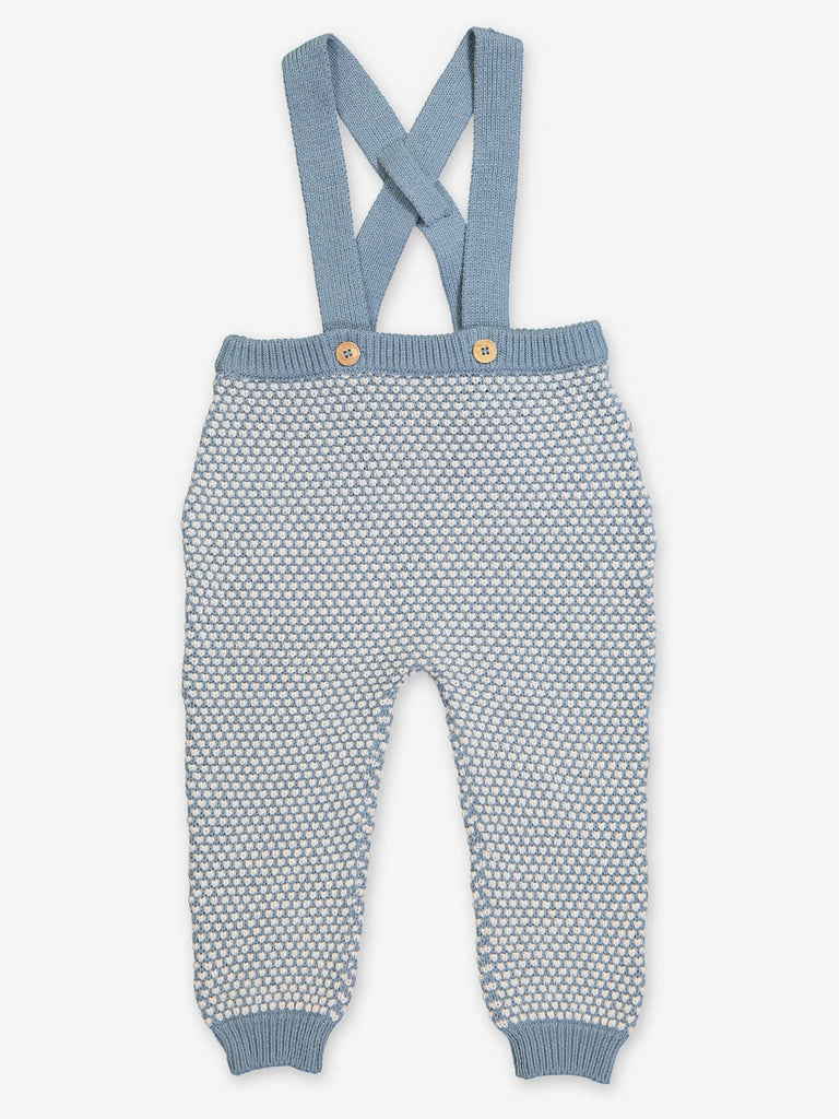 Brittany Blue Baby Organic Knit Pants by Petite Lucette