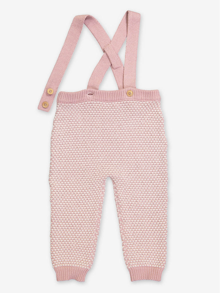 Dusty Pink Baby Organic Knit Pants by Petite Lucette