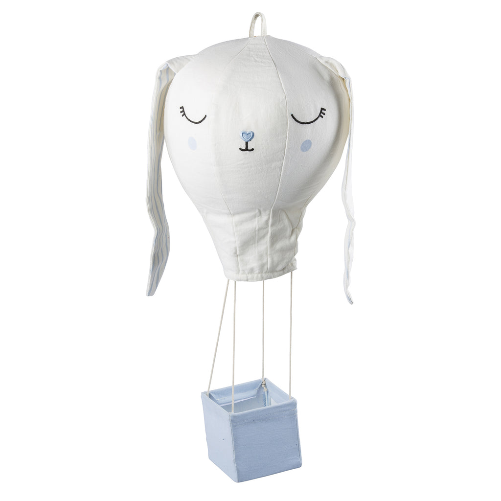 Light Blue Bunny Hot Air Balloon Mobile