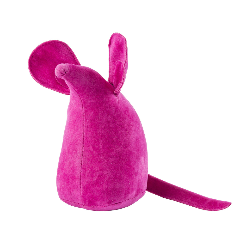 Hot Pink Mouse Weighted Bookend or Desk Accessory