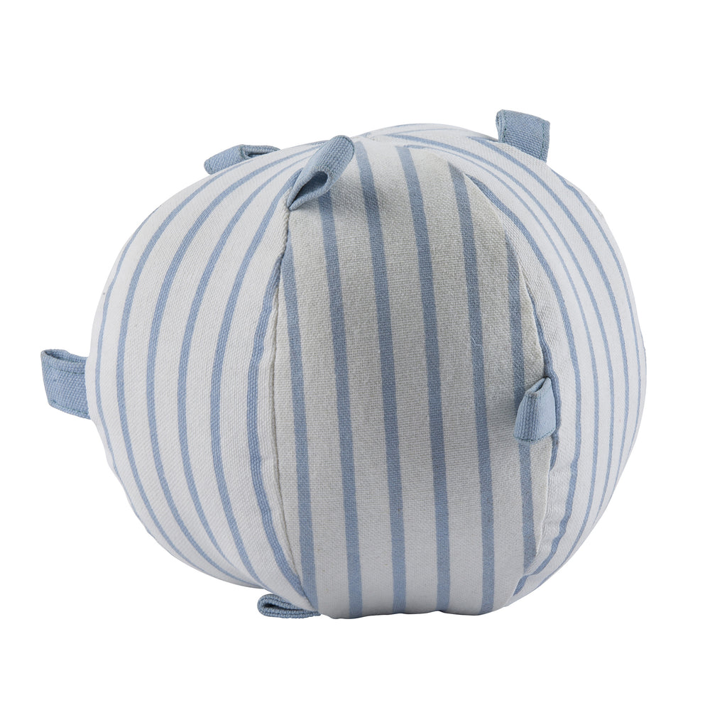 Light Blue Pinstriped Sensory  Rattle Ball
