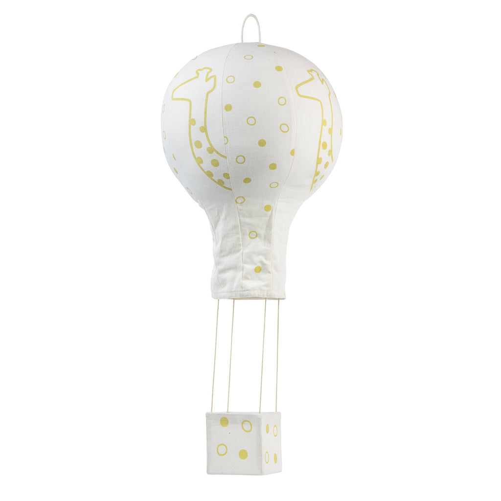Yellow Giraffe Friends Hot Air Balloon Mobile