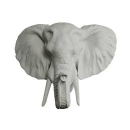 The Savannah Mini Elephant Head Faux Taxidermy by Wall Charmers, Gray