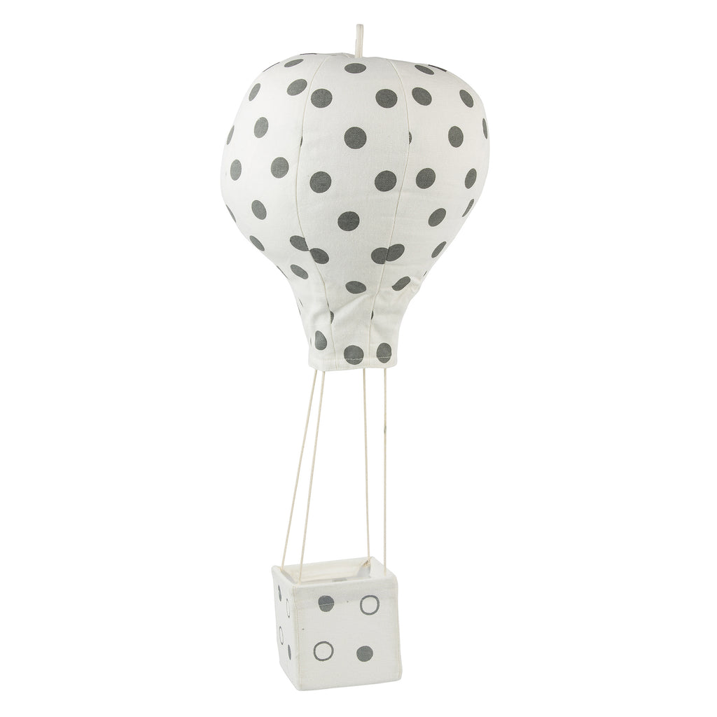 PRE-ORDER June 1st - Lil' Pya| Polka Dot | Hot Air Balloon Mobile | Gray