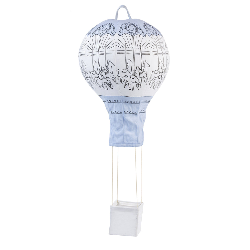 Lil' Pyar Horse Carousel Light Blue Hot Air Balloon Mobile