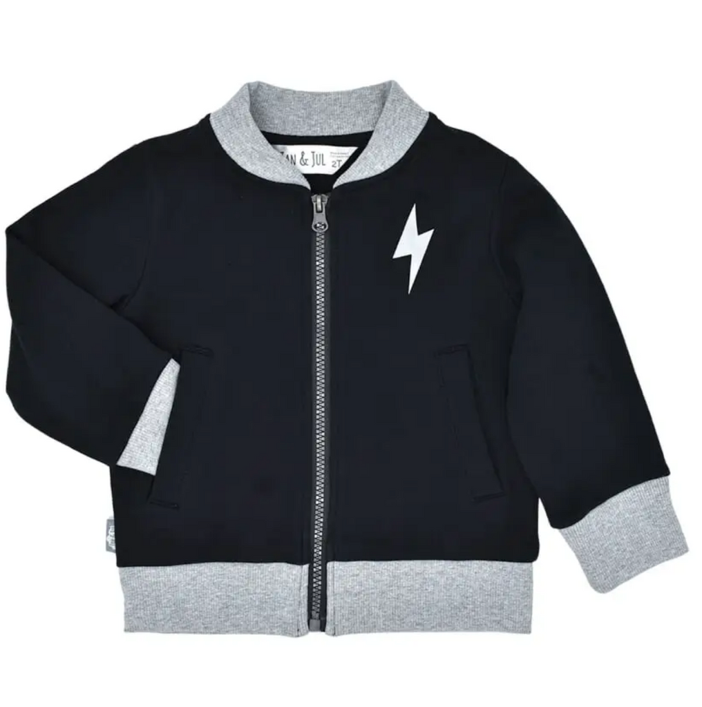 Lightning Bolt | Kids Bomber Jacket