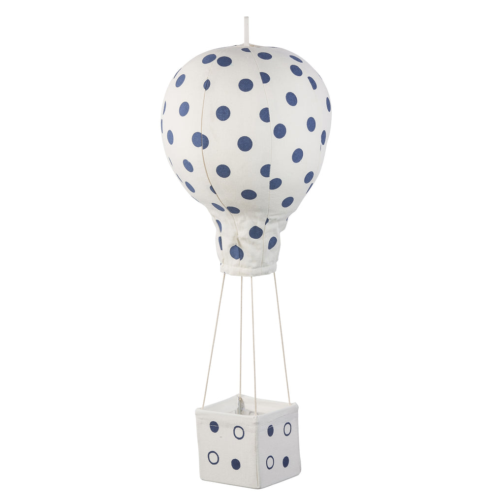 Navy Polka Dot Hot Air Balloon Mobile