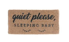 """Quiet Please, Sleeping Baby"" Doormat"