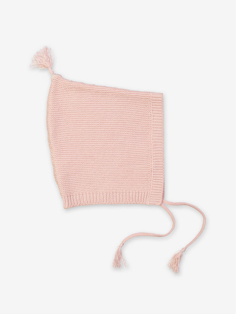 Dusty Pink Baby Knitted Hat by Petite Lucette