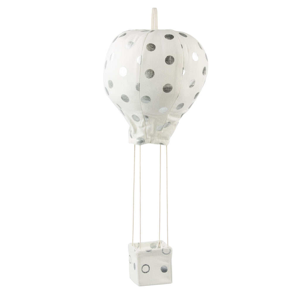 Lil' Pyar Silver PolkaDot Hot Air Balloon Mobile