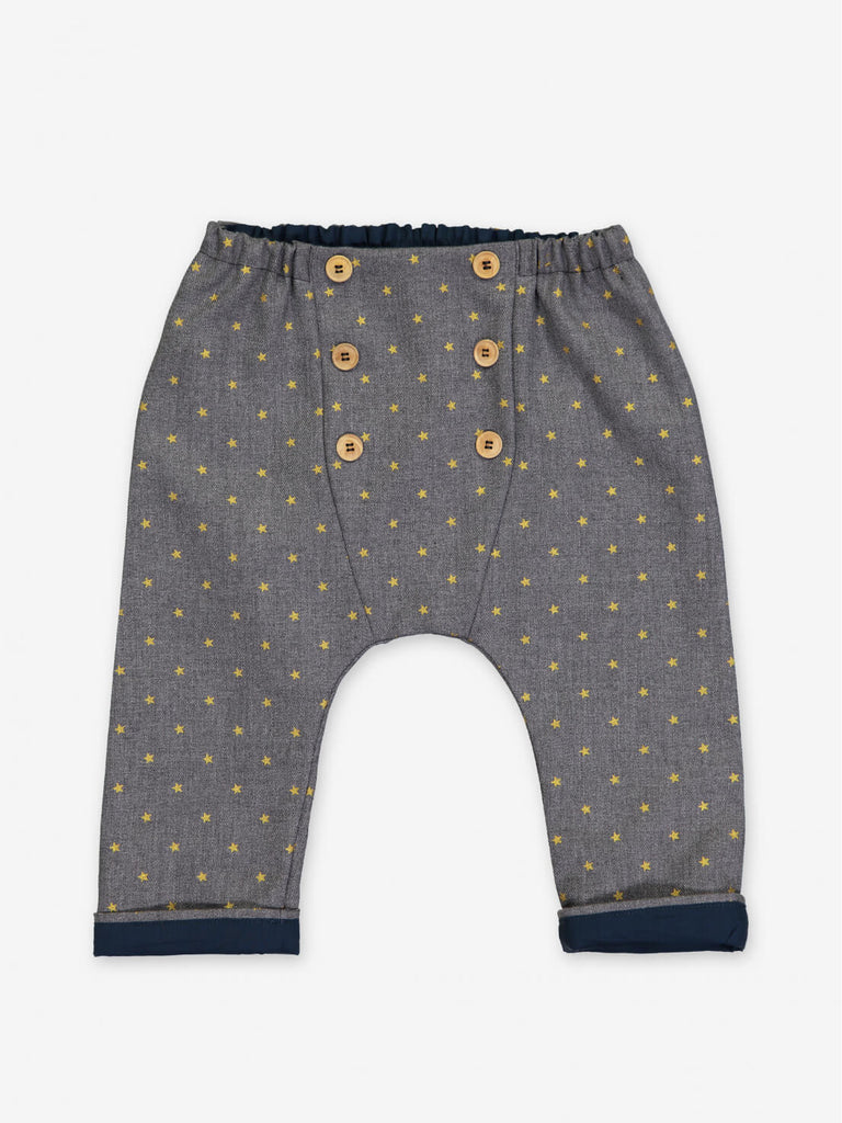 Golden Stars Baby Pants by Petite Lucette