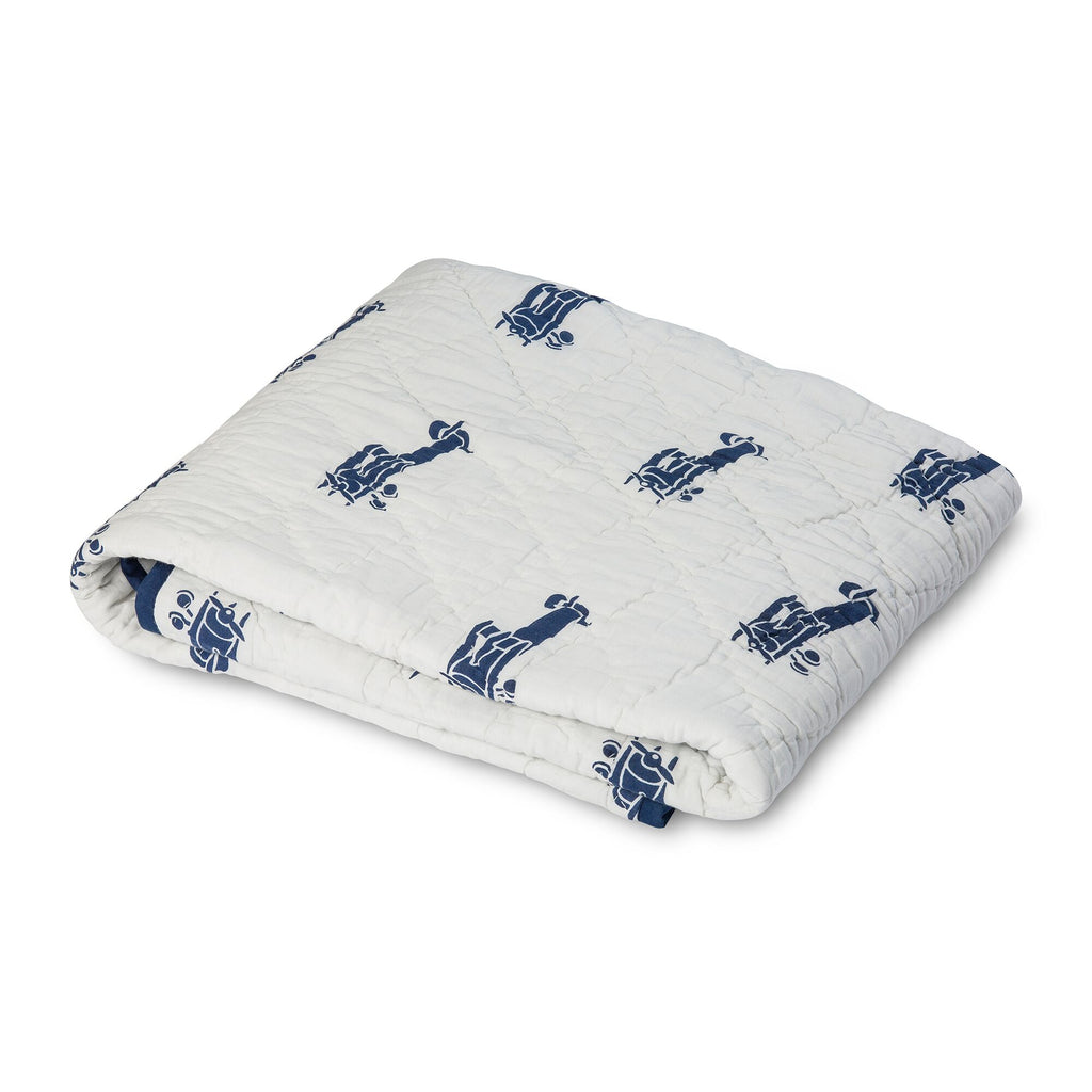Lil' Pyar Airplanes, Navy Twin Quilt