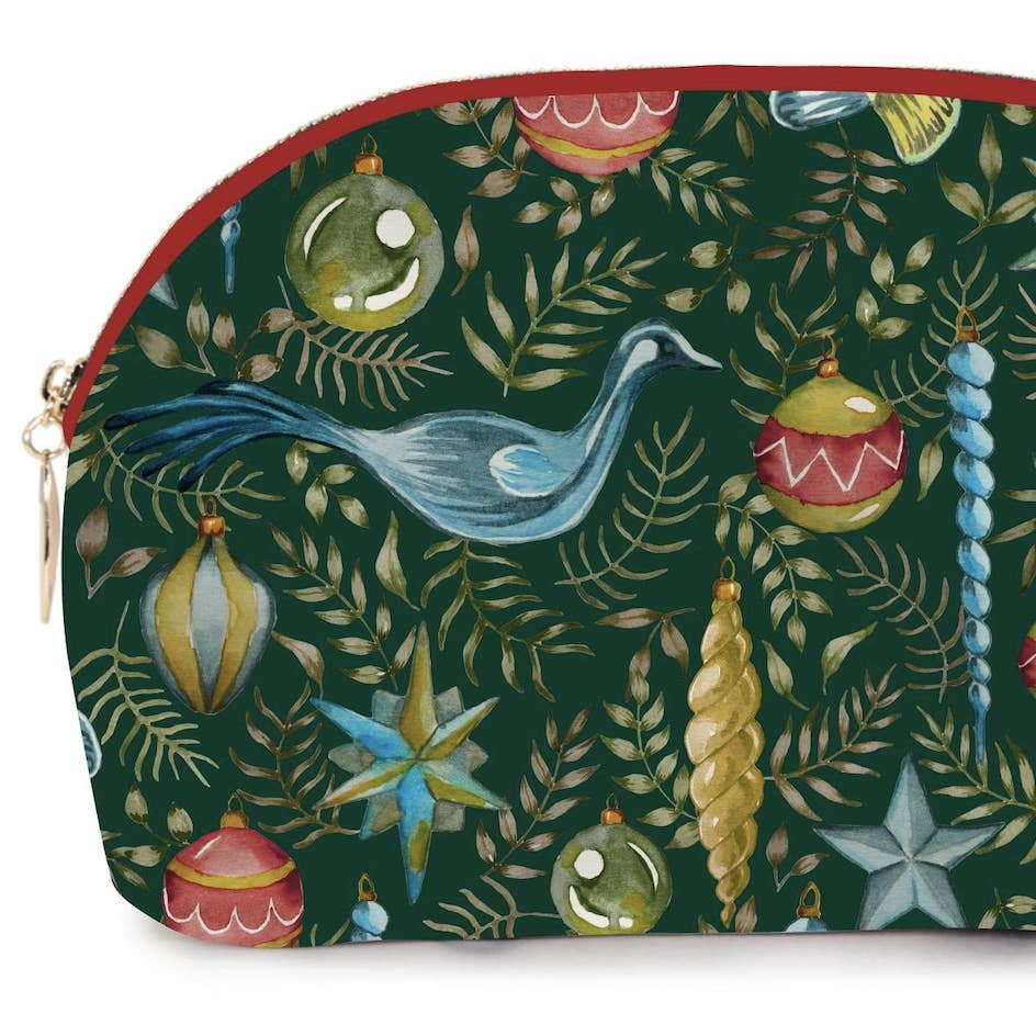 Watercolor Christmas Cosmetic Bag