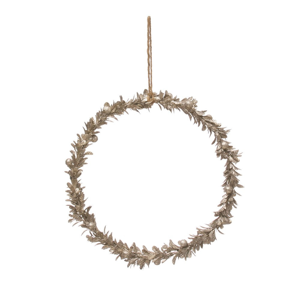Champagne Faux Wreath, 11 inch