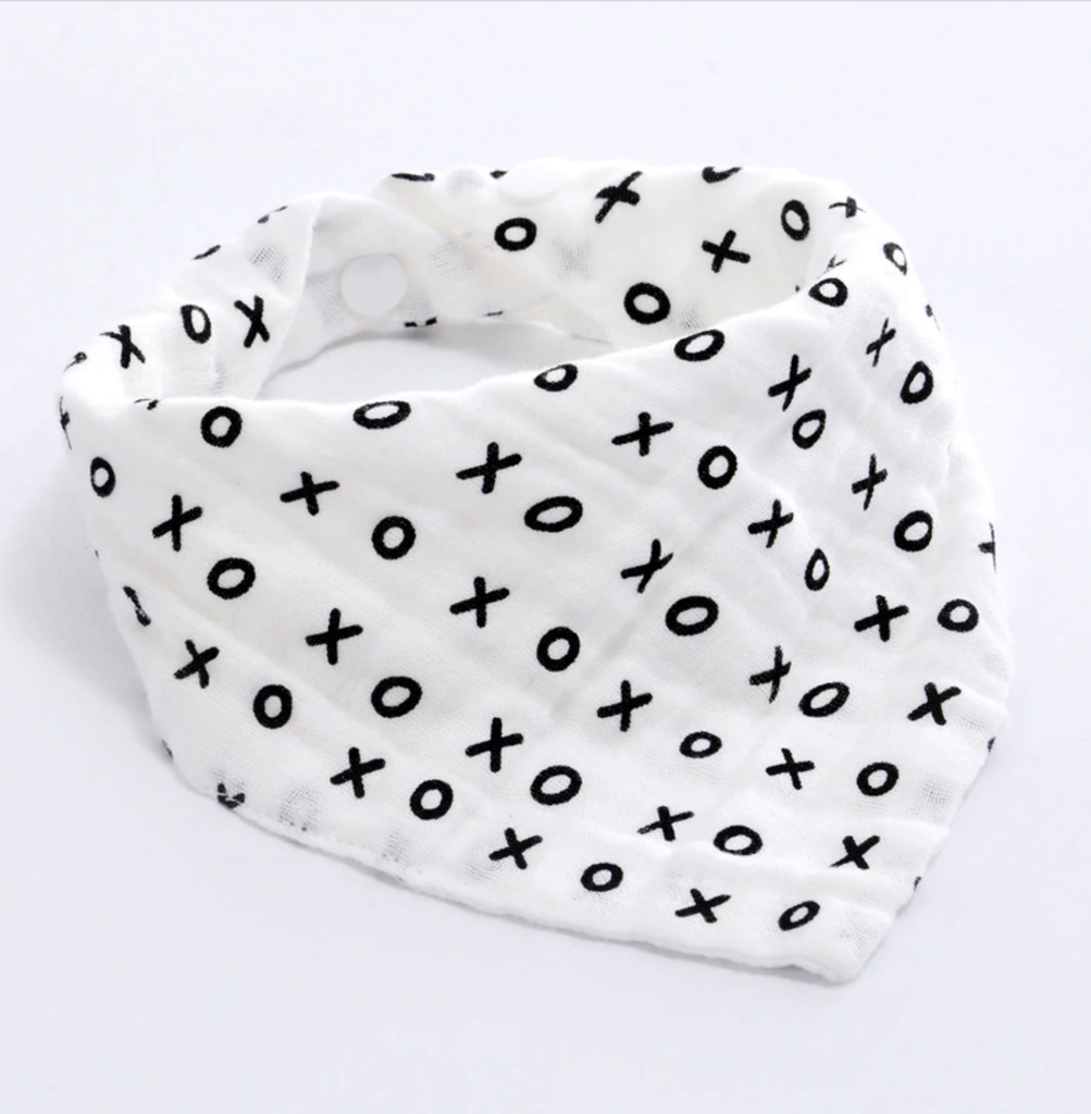XOXO Triangle Bib Bandana