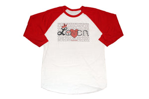 """Peaced By Emotion"" Raglan"
