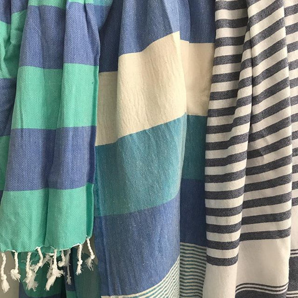 Beach Mixed Stripe Turkish Towel - Various Colors