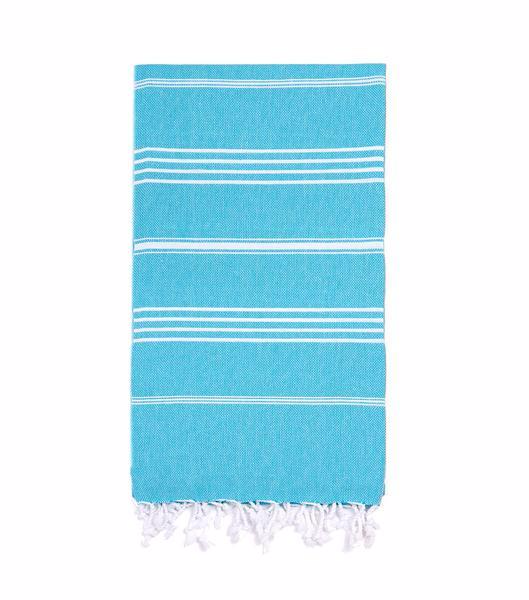 Beach XL Original Turkish Towel - Turquoise, Blue