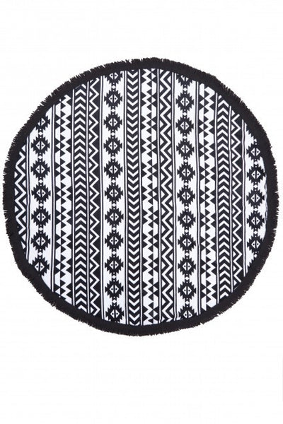 Beach Festival Print Round Terry Towel