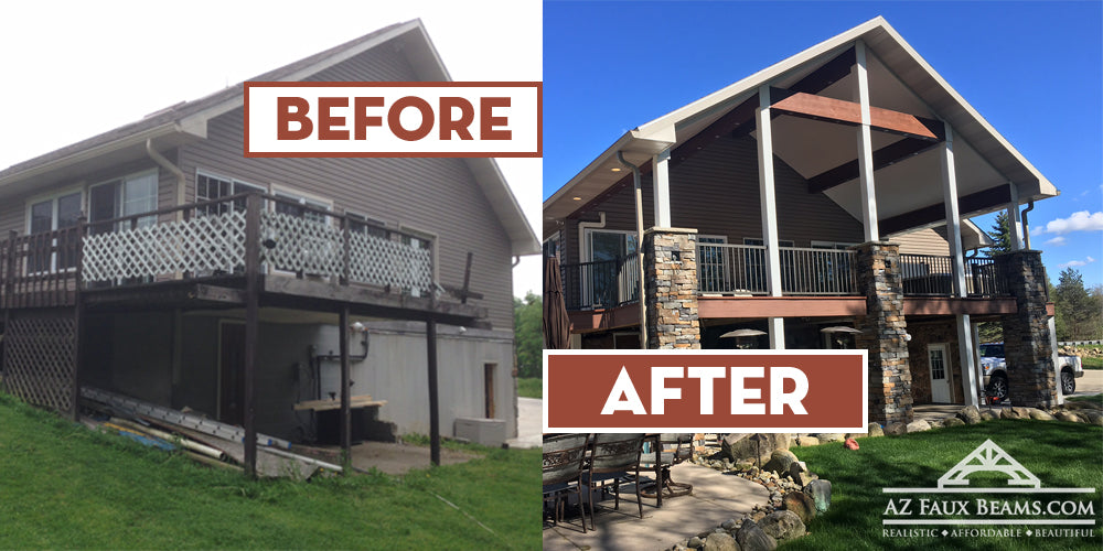 Faux Beam Installation on Home Exterior – AZ Faux Beams