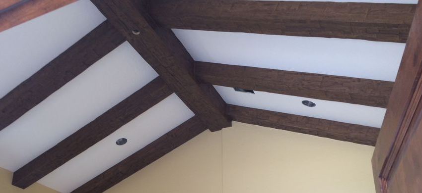 How to Get Cheap Wood Ceiling Beams that Look Luxurious