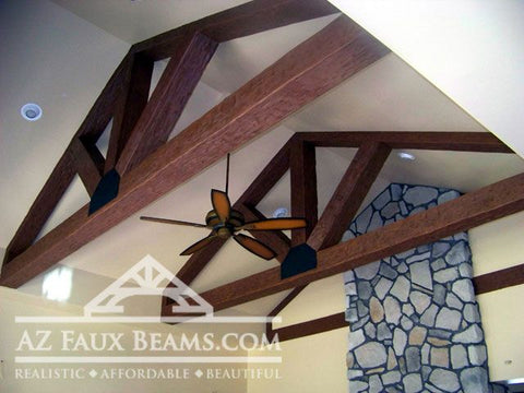 Living Room Ceiling Beams - Truss Systems