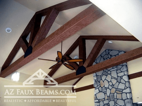 faux wood beams for vaulted ceilings