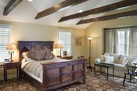 Faux Wood Beam Design Ideas In The Bedroom - Break up a white ceiling