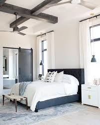 Faux Wood Beam Design Ideas In The Bedroom - Coffered Ceiling