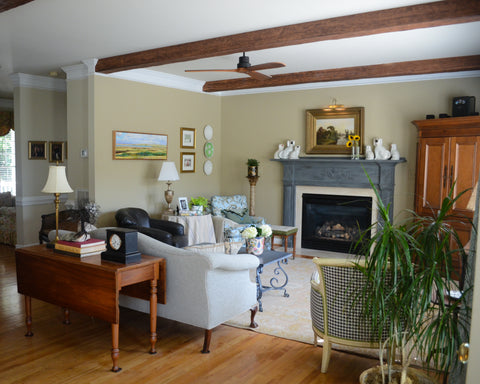 Faux Wood Beam Designs for Living Room