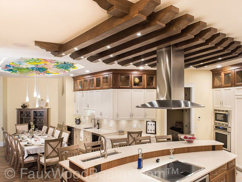 45 Gorgeous Faux Wood Beam Design Ideas - AZ Faux Beams on home cathedral ceilings, home shelving, home light fixtures, home doorways, home paneling, home countertops, home entertainment centers, home interior beams, home floor, home columns, home porch beams, home fireplaces, home display cases,