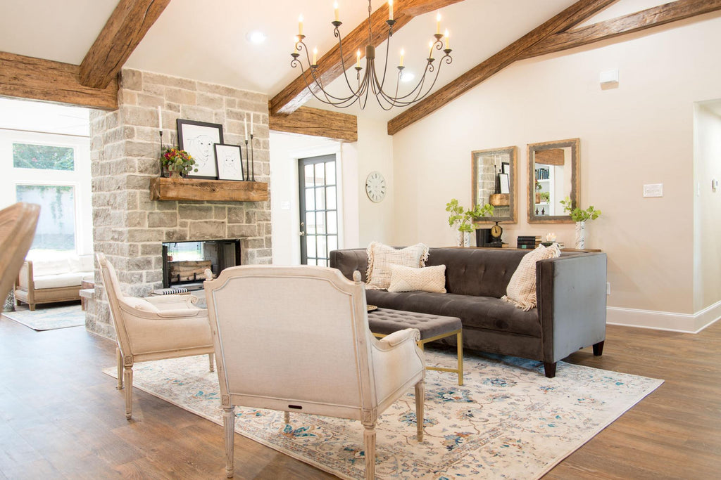 Faux Beams Living Room Fixer Upper
