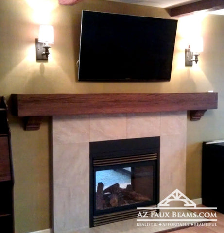 Faux Wood Mantels