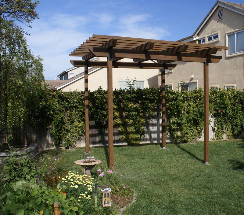 Faux wood pergola kit