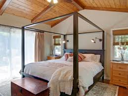 Faux Wood Beams In The Bedroom - Wooden ceiling