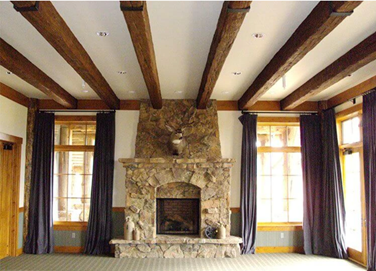 faux wood beam ideas for the home