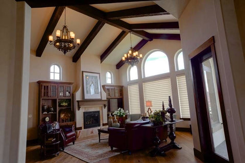Living Room Ceiling Beams - Vaulted Ribs