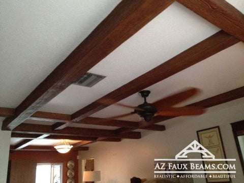 Living Room Ceiling Beams - Decorative Patterns