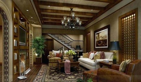 45 gorgeous faux wood beam design ideas az faux beams - Wood beams in living room ...