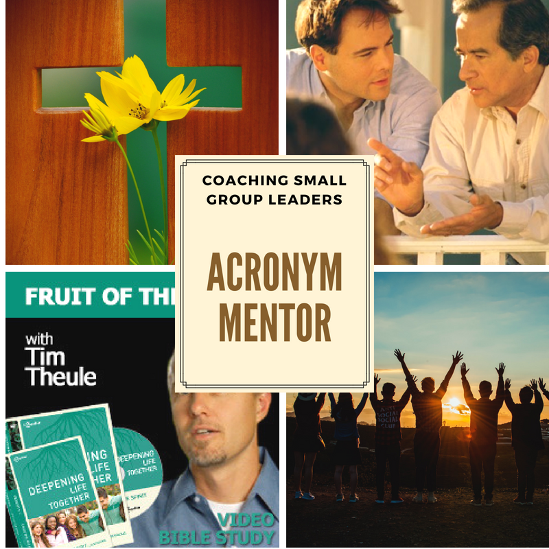 Coaching Small Group Leaders - Acronym MENTOR