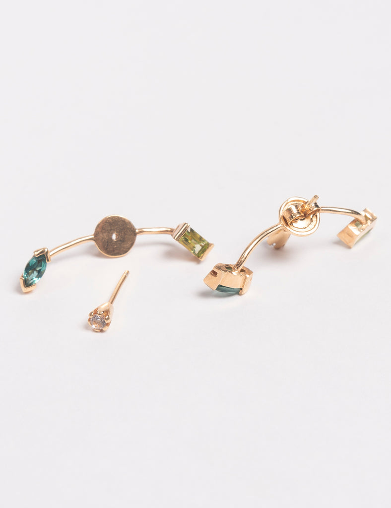 Cornelia Webb - WARPED BARBELL EARRING