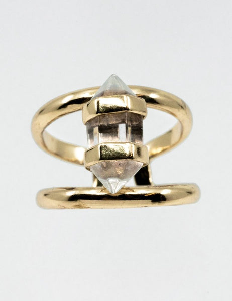 CORNELIA WEBB - Crystalised Double Ring