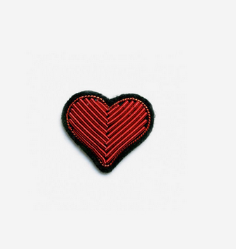 MACON & LESQUOY - heart brooch