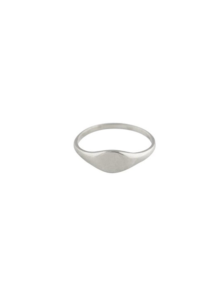 TROIS PETITS POINTS - Silver baby signet ring
