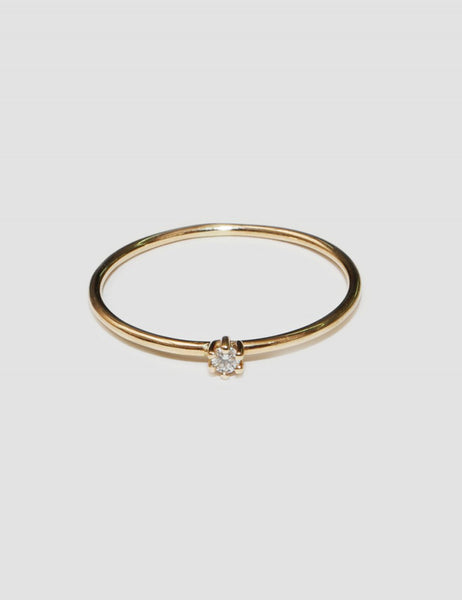 SASKIA DIEZ - Wire Solitaire Ring Mini