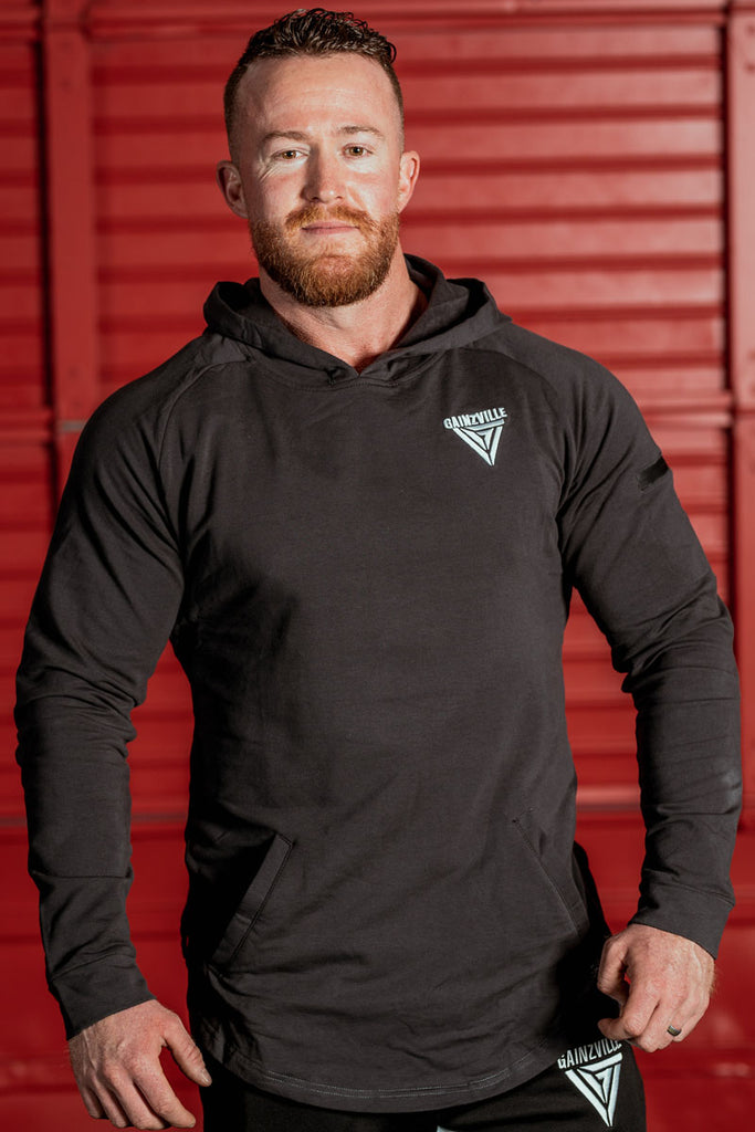 Draper Muscle Hoodie - Charcol Grey