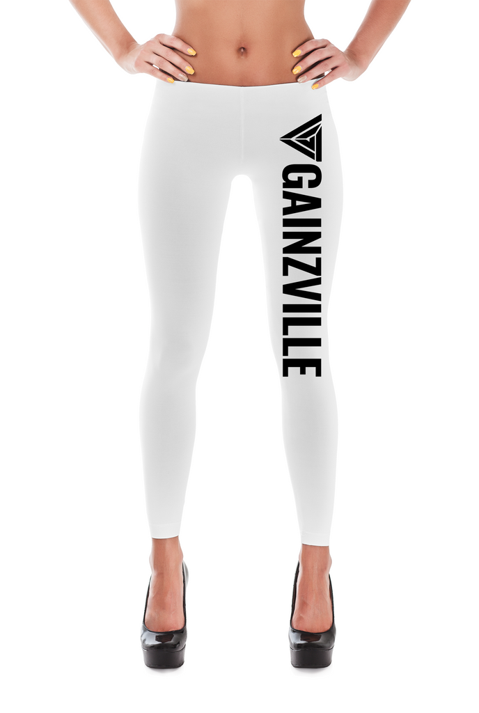 White Gainzville Leggings