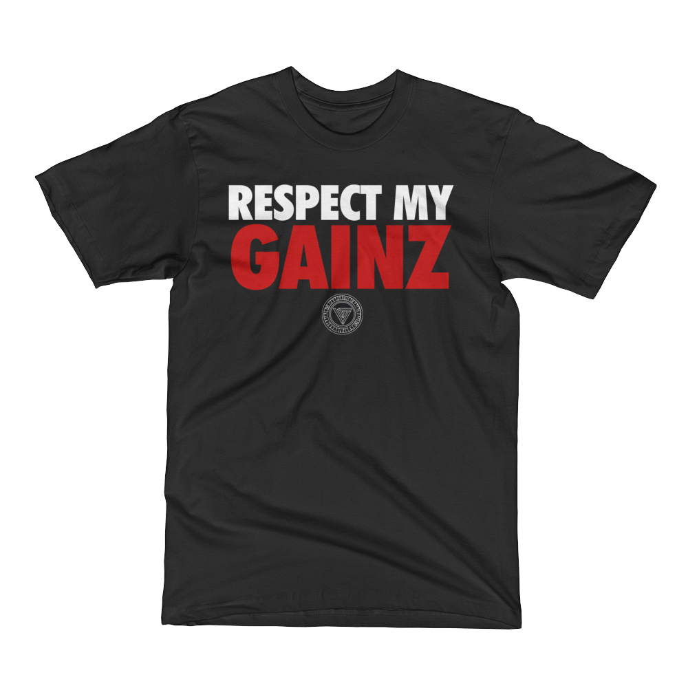 Respect My Gainz - Black - Men's Short Sleeve T-Shirt