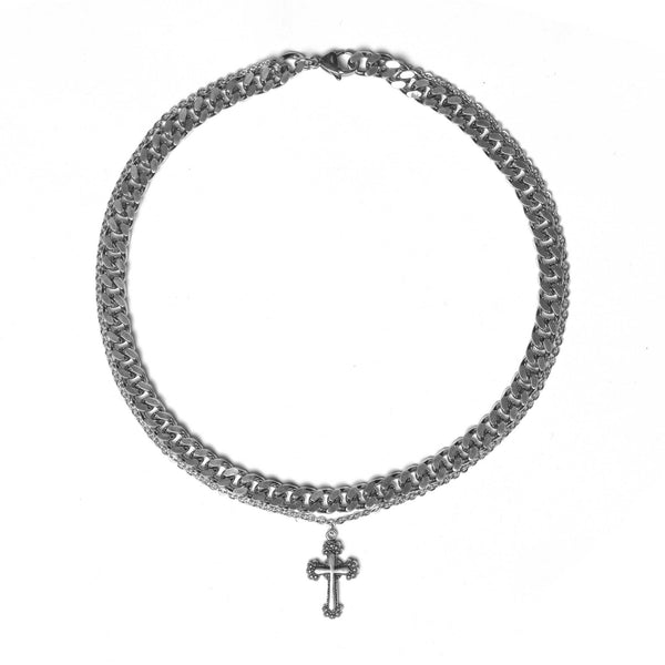 Circular Cross Combo Choker (limited)